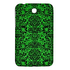 Damask2 Black Marble & Green Colored Pencil (r) Samsung Galaxy Tab 3 (7 ) P3200 Hardshell Case