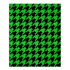 Houndstooth1 Black Marble & Green Colored Pencil Shower Curtain 60  X 72  (medium)  by trendistuff