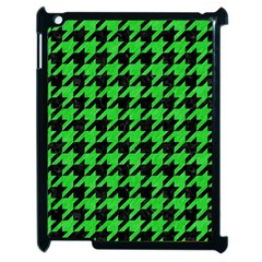 Houndstooth1 Black Marble & Green Colored Pencil Apple Ipad 2 Case (black) by trendistuff