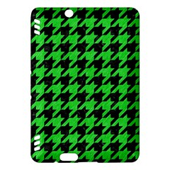 Houndstooth1 Black Marble & Green Colored Pencil Kindle Fire Hdx Hardshell Case by trendistuff