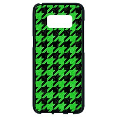 Houndstooth1 Black Marble & Green Colored Pencil Samsung Galaxy S8 Black Seamless Case by trendistuff
