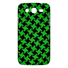 Houndstooth2 Black Marble & Green Colored Pencil Samsung Galaxy Mega 5 8 I9152 Hardshell Case  by trendistuff