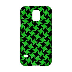 Houndstooth2 Black Marble & Green Colored Pencil Samsung Galaxy S5 Hardshell Case  by trendistuff