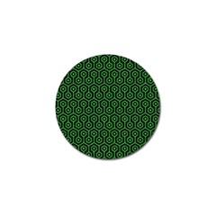 Hexagon1 Black Marble & Green Colored Pencil Golf Ball Marker (4 Pack) by trendistuff