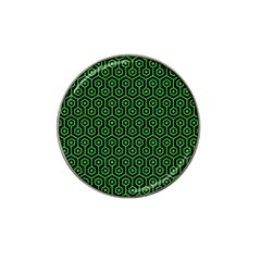Hexagon1 Black Marble & Green Colored Pencil Hat Clip Ball Marker by trendistuff