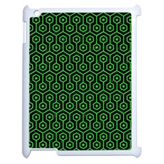Hexagon1 Black Marble & Green Colored Pencil Apple Ipad 2 Case (white) by trendistuff