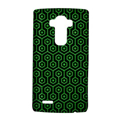 Hexagon1 Black Marble & Green Colored Pencil Lg G4 Hardshell Case by trendistuff