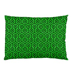 Hexagon1 Black Marble & Green Colored Pencil (r) Pillow Case (two Sides) by trendistuff