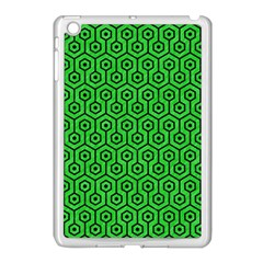 Hexagon1 Black Marble & Green Colored Pencil (r) Apple Ipad Mini Case (white) by trendistuff