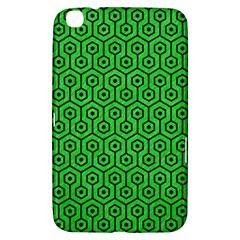 Hexagon1 Black Marble & Green Colored Pencil (r) Samsung Galaxy Tab 3 (8 ) T3100 Hardshell Case