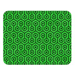 Hexagon1 Black Marble & Green Colored Pencil (r) Double Sided Flano Blanket (large)  by trendistuff