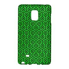 Hexagon1 Black Marble & Green Colored Pencil (r) Galaxy Note Edge by trendistuff
