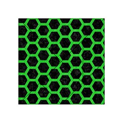 Hexagon2 Black Marble & Green Colored Pencil Acrylic Tangram Puzzle (4  X 4 ) by trendistuff