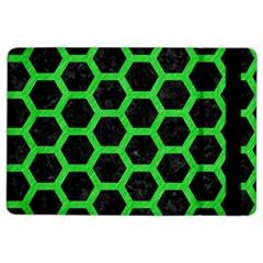 Hexagon2 Black Marble & Green Colored Pencil Ipad Air 2 Flip by trendistuff