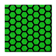 Hexagon2 Black Marble & Green Colored Pencil (r) Tile Coasters by trendistuff