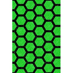 Hexagon2 Black Marble & Green Colored Pencil (r) 5 5  X 8 5  Notebooks by trendistuff