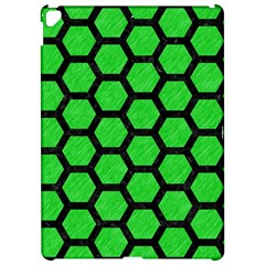 Hexagon2 Black Marble & Green Colored Pencil (r) Apple Ipad Pro 12 9   Hardshell Case by trendistuff