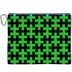 Puzzle1 Black Marble & Green Colored Pencil Canvas Cosmetic Bag (xxxl) by trendistuff