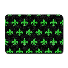 Royal1 Black Marble & Green Colored Pencil (r) Small Doormat  by trendistuff