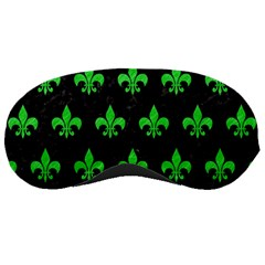 Royal1 Black Marble & Green Colored Pencil (r) Sleeping Masks by trendistuff