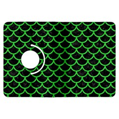 Scales1 Black Marble & Green Colored Pencil Kindle Fire Hdx Flip 360 Case by trendistuff