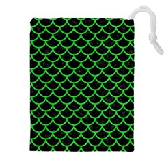 Scales1 Black Marble & Green Colored Pencil Drawstring Pouches (xxl) by trendistuff
