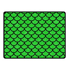 Scales1 Black Marble & Green Colored Pencil (r) Fleece Blanket (small) by trendistuff
