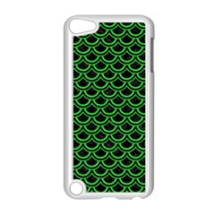 Scales2 Black Marble & Green Colored Pencil Apple Ipod Touch 5 Case (white) by trendistuff