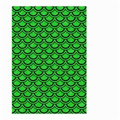 Scales2 Black Marble & Green Colored Pencil (r) Small Garden Flag (two Sides) by trendistuff
