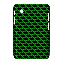 Scales3 Black Marble & Green Colored Pencil Samsung Galaxy Tab 2 (7 ) P3100 Hardshell Case  by trendistuff
