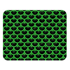 Scales3 Black Marble & Green Colored Pencil Double Sided Flano Blanket (large)  by trendistuff