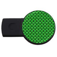 Scales3 Black Marble & Green Colored Pencil (r) Usb Flash Drive Round (4 Gb) by trendistuff