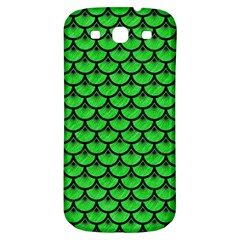 Scales3 Black Marble & Green Colored Pencil (r) Samsung Galaxy S3 S Iii Classic Hardshell Back Case by trendistuff