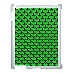 Scales3 Black Marble & Green Colored Pencil (r) Apple Ipad 3/4 Case (white) by trendistuff