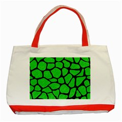 Skin1 Black Marble & Green Colored Pencil Classic Tote Bag (red) by trendistuff