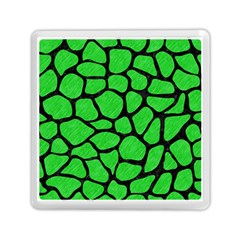 Skin1 Black Marble & Green Colored Pencil Memory Card Reader (square)  by trendistuff