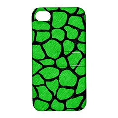 Skin1 Black Marble & Green Colored Pencil Apple Iphone 4/4s Hardshell Case With Stand by trendistuff