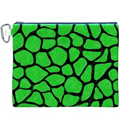 Skin1 Black Marble & Green Colored Pencil Canvas Cosmetic Bag (xxxl) by trendistuff