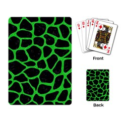 Skin1 Black Marble & Green Colored Pencil (r) Playing Card by trendistuff