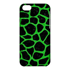 Skin1 Black Marble & Green Colored Pencil (r) Apple Iphone 5c Hardshell Case by trendistuff