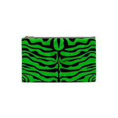 Skin2 Black Marble & Green Colored Pencil (r) Cosmetic Bag (small)  by trendistuff