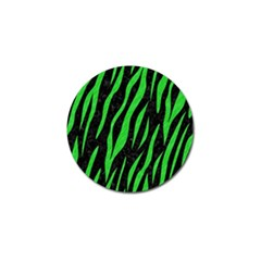 Skin3 Black Marble & Green Colored Pencil Golf Ball Marker (4 Pack) by trendistuff