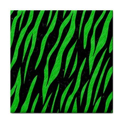Skin3 Black Marble & Green Colored Pencil Face Towel by trendistuff