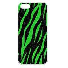 Skin3 Black Marble & Green Colored Pencil Apple Iphone 5 Seamless Case (white) by trendistuff