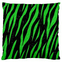 Skin3 Black Marble & Green Colored Pencil Large Flano Cushion Case (two Sides) by trendistuff