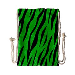 Skin3 Black Marble & Green Colored Pencil (r) Drawstring Bag (small) by trendistuff