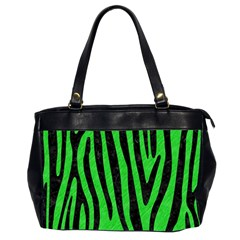 Skin4 Black Marble & Green Colored Pencil Office Handbags (2 Sides)  by trendistuff
