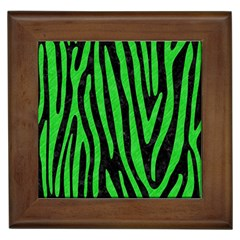 Skin4 Black Marble & Green Colored Pencil (r) Framed Tiles by trendistuff