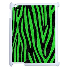 Skin4 Black Marble & Green Colored Pencil (r) Apple Ipad 2 Case (white) by trendistuff