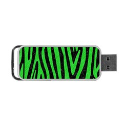 Skin4 Black Marble & Green Colored Pencil (r) Portable Usb Flash (two Sides) by trendistuff